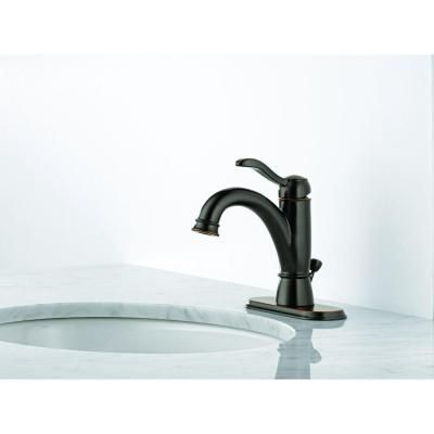 Delta Porter Single Hole Single-Handle High Arc Bathroom Faucet in Oil Rubbed Bronze-15984LF-OB - The Home Depot