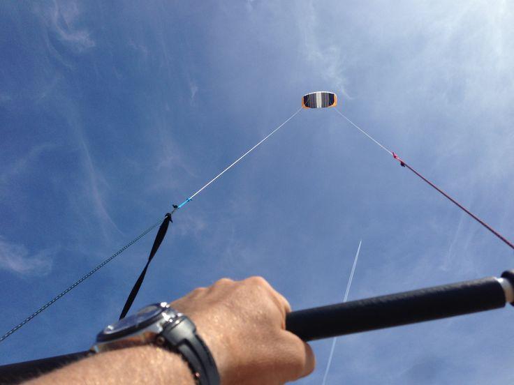 Lekker vliegeren op t strand :) Beach Nieuwvliet-Bad Netherlands Kite