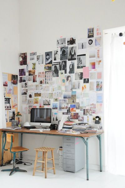 Espacio de trabajo para inspirarte con fotos o... proyectos e ideas a la vista ;-)