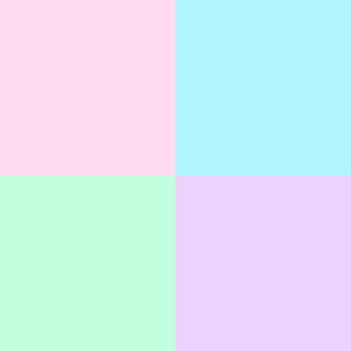 My Favorite Colors: pastels pink, turquoise, mint & lilac.