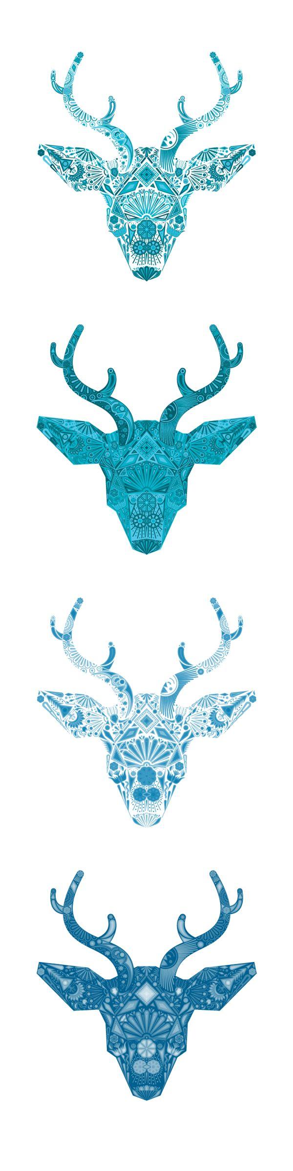 Arte huichol- venado azul