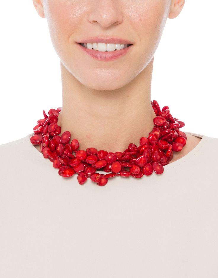 Red Coral Multi-Strand Necklace  | Kenneth Jay Lane | Halsbrook