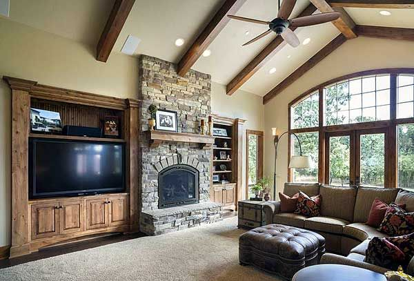 Plan W69582AM: Mountain, Craftsman, Ranch, Northwest, Corner Lot, Photo Gallery House Plans & Home Designs