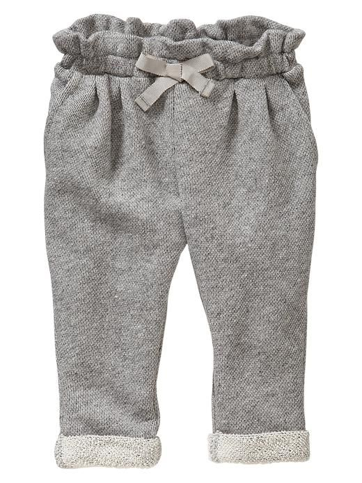Marled Terry Pants - grey marl