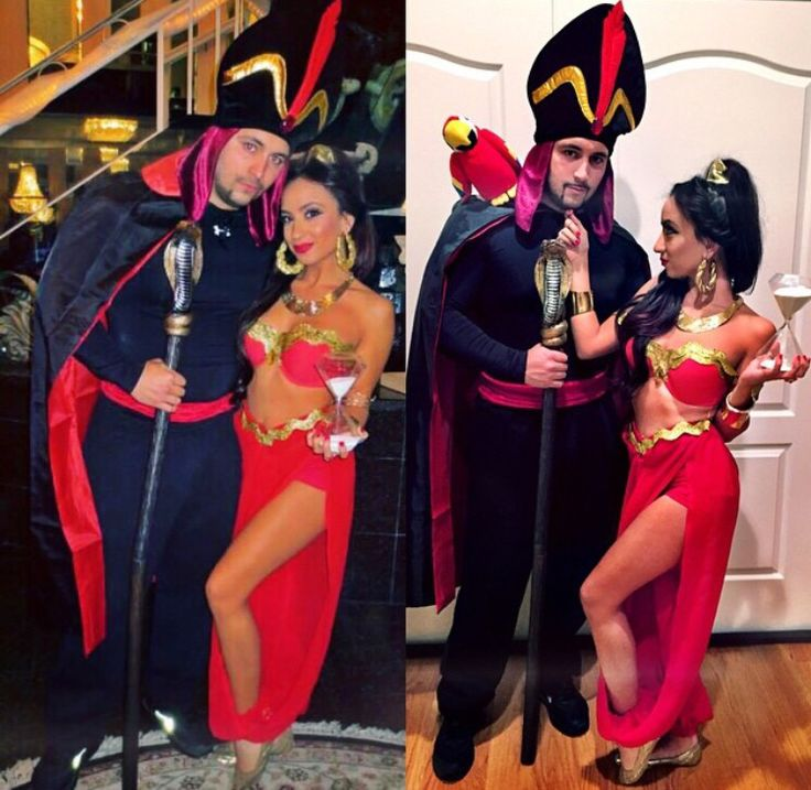 Unique one of a kind custom made Jasmine and Jafar costumes - DIY. See Instagram account : @clothesyourcustomeyes