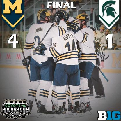 UMich takes down Michigan State at the Hockey City Classic! #GoBlue