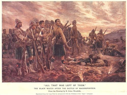 MILITARY C1900 PRINT BOER WAR LAST OF THE BLACK WATCH AFTER MAGERSFONTEIN | eBay