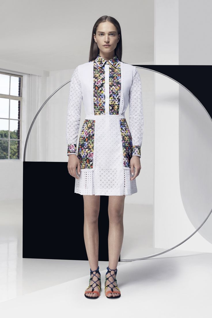 Look 17. Phora Blouse Embroidered & Frill Skirt