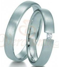 Βέρες γάμου από πλατίνα με διαμάντι Breuning 9003-9004