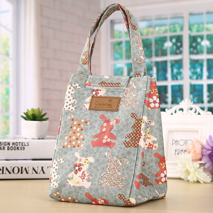 Lunch Bags for Women Men Printing Flower Dog Heart  Thermal Big Capacity Storage Tote Bags Food Picnic insulation Bag Cooler