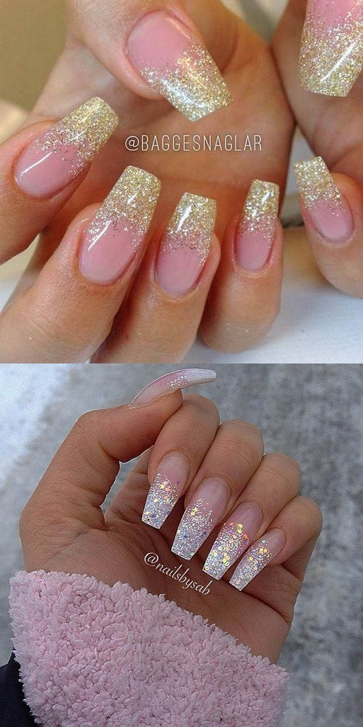 25+ trending Pink nails ideas on Pinterest   Pink glitter ...