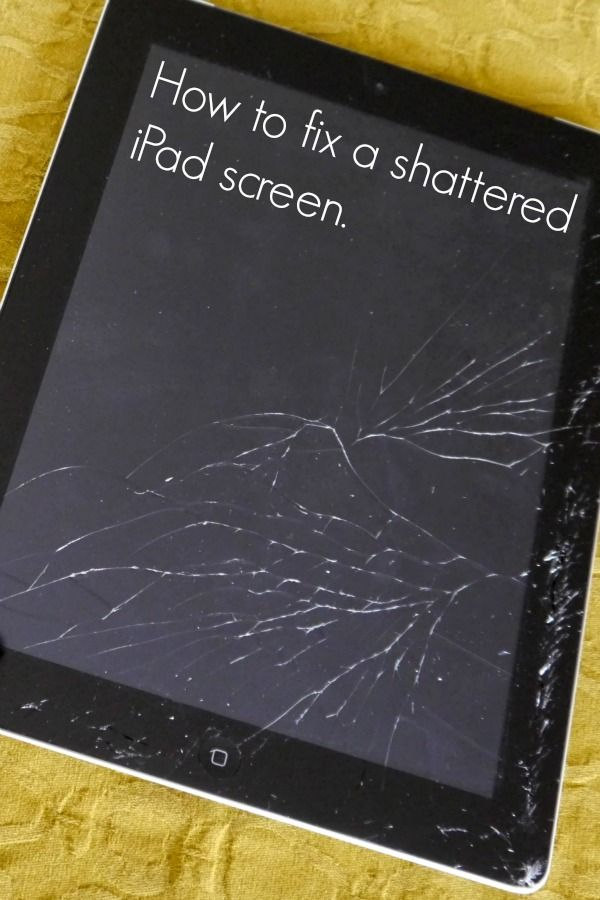 How to fix a shattered iPad screen... it's not that hard! I may need this some day for J's!