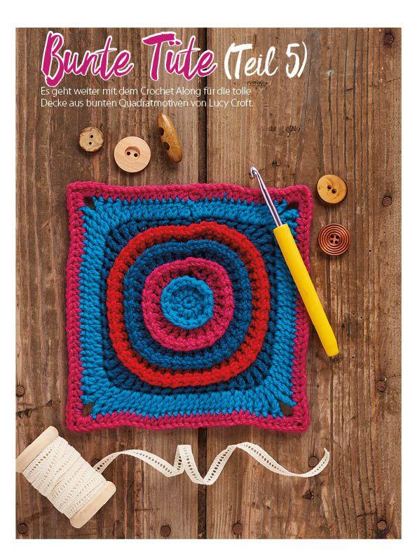 Häkelmagazin Simply Häkeln Decken Quadratmotive 0317