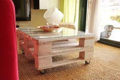 TEIDE mesa palets. Mesa realizada con palets europeos reciclados. Precio desde 139€ en www.ecodecomobiliario.com