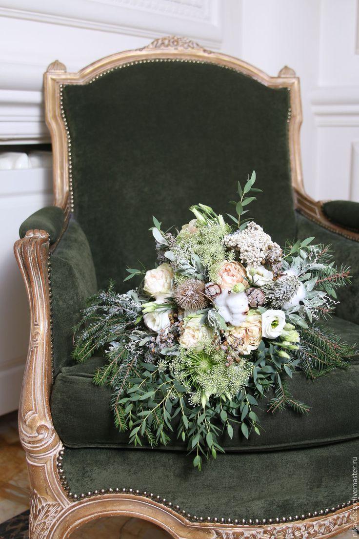 Зимний букет, букет невесты, букет в подарок