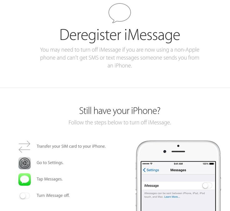 Deregister and Turn Off iMessage - Apple Support