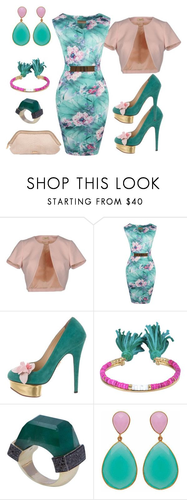 """""""Untitled #2402"""" by deirdre35 on Polyvore featuring LIU•JO, WithChic, Charlotte Olympia, Aurélie Bidermann, Jade Jagger, Carousel Jewels and Burberry"""