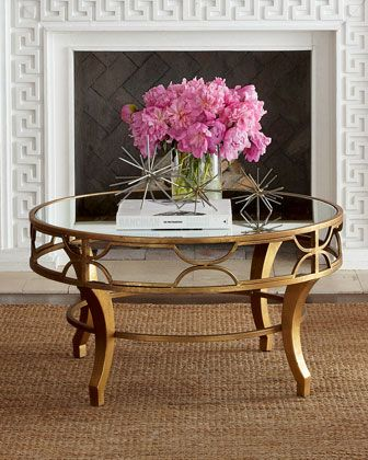 """Lena"" Mirrored-Top Coffee Table  http://rstyle.me/n/d3zdvpdpe"