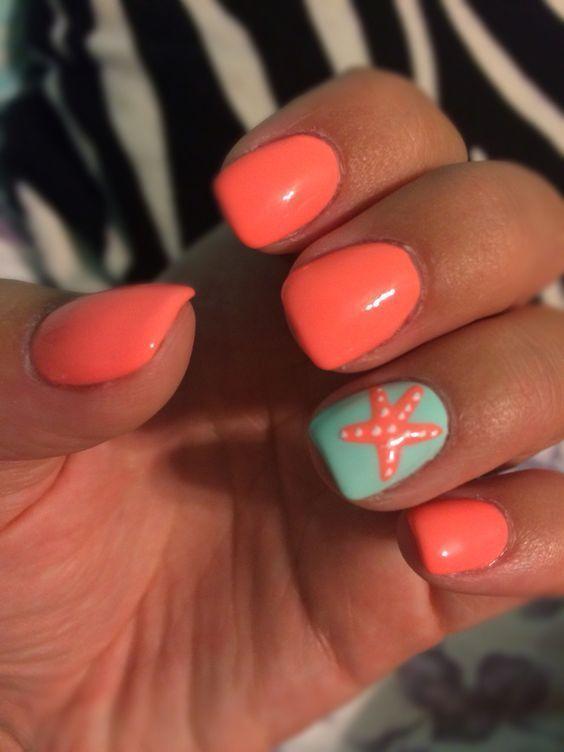 47 Summer Orange Colors Nails Art Design #design #colors #nail #orange #some – Nageldesign