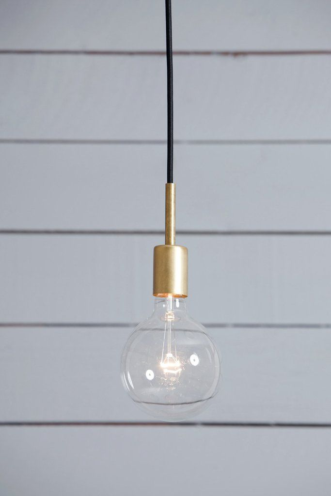 Brass Pendant Light | Mid Century | Gold | Black | Simple
