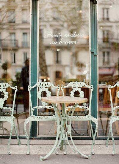 Paris Cafe Art Print by Leslee Mitchell http://www.uk-rattanfurniture.com/product/modern-gardenoutdoor-hanging-chair-black-rattan-red-cushionheadrest/