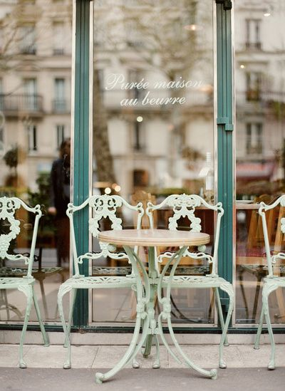 Paris Cafe Art Print by Leslee Mitchell