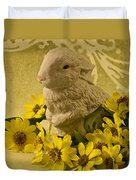 Bunny And Daisies  Duvet Cover by Sandra Foster