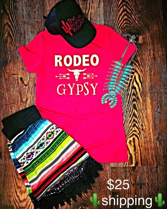 RODEO GYPSY tee $25 + shipping The Ranch Boutique ND www.facebook.com/treebyjewelry