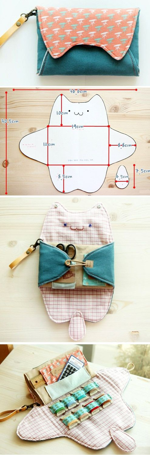 Sewing Purse Bag Organizer. DIY Pattern Tutorial. www.handmadiya.co...