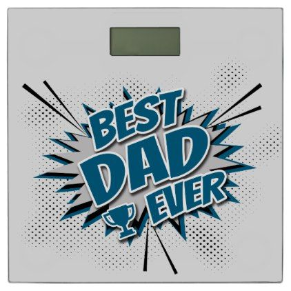 #Best Dad Ever Bathroom Scale - #Bathroom #Accessories #home #living