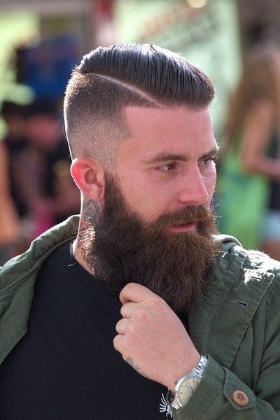 beautiful full thick dark beard and mustache bushy beards bearded man mens' style hair cut hairstyles for men tattoos tattooed handsome #beardsforever