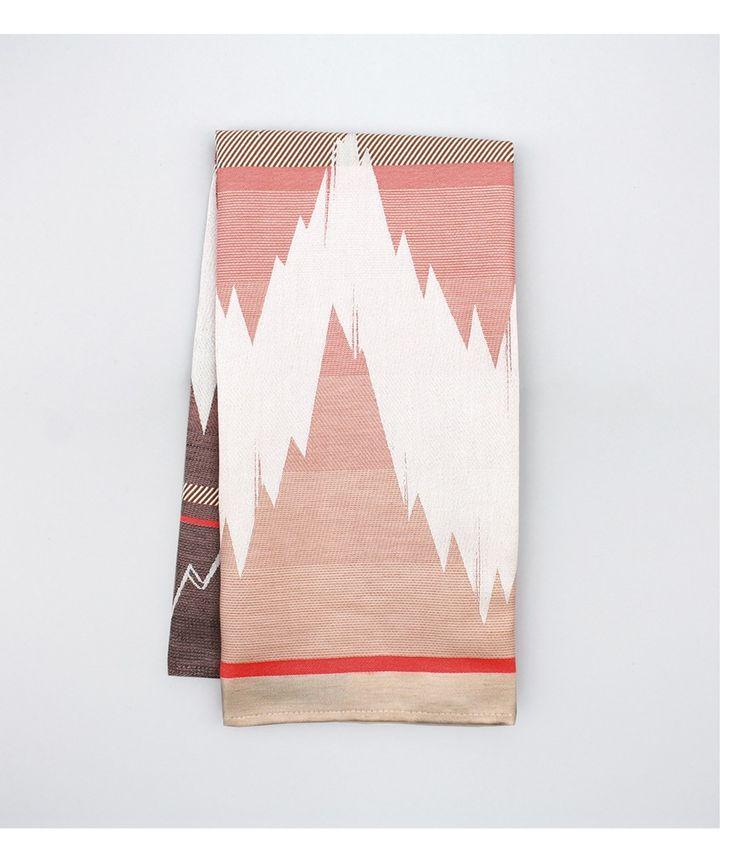 Image of 'ISH' Tea Towel - Pink