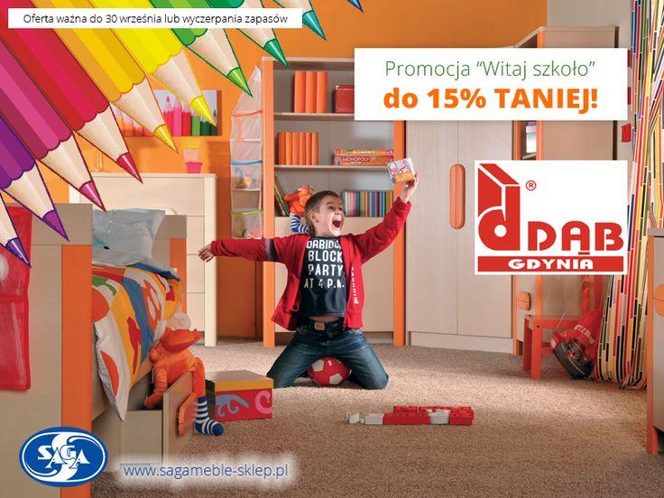 """Pora na kolejną promocję :) Do 15% taniej! Dwa systemy młodzieżowe, wersalki, fotele, narożnik... Czyli """"Witaj Szkoło 2014!"""" w Dąb Gdynia.  http://sagameble-sklep.pl/587-promocja-dab-gdynia-witaj-szkolo-2014"""