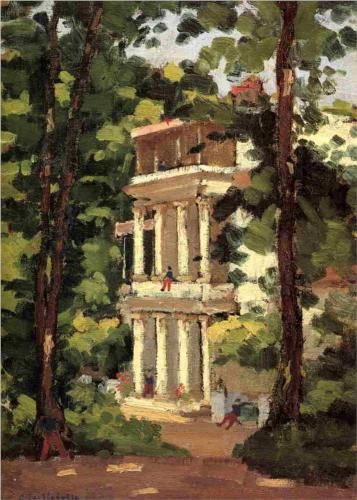 Yerres, Colonnade of the Casin - Gustave Caillebotte