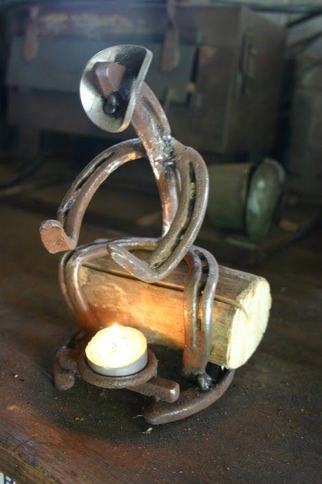 Cowboy candle holder