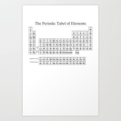Periodic+Tabel+Tshirt!++Art+Print+by+Tehyumzorz+-+$12.48