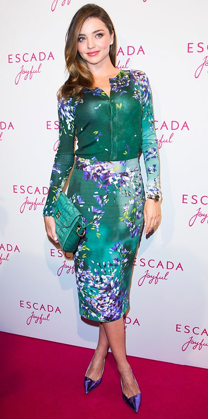 Look of the Day - July 30, 2014 - Miranda Kerr in Escada from #InStyle