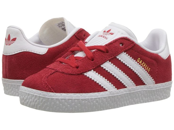 adidas Originals Kids Gazelle (Toddler) Kids Shoes Scarlet/White/Gold