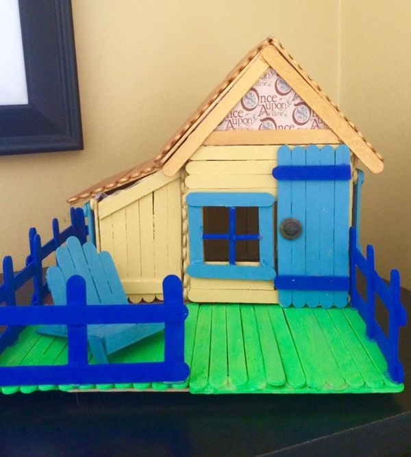 35 So Adorable Popsicle Stick Craft House Designs For Fun