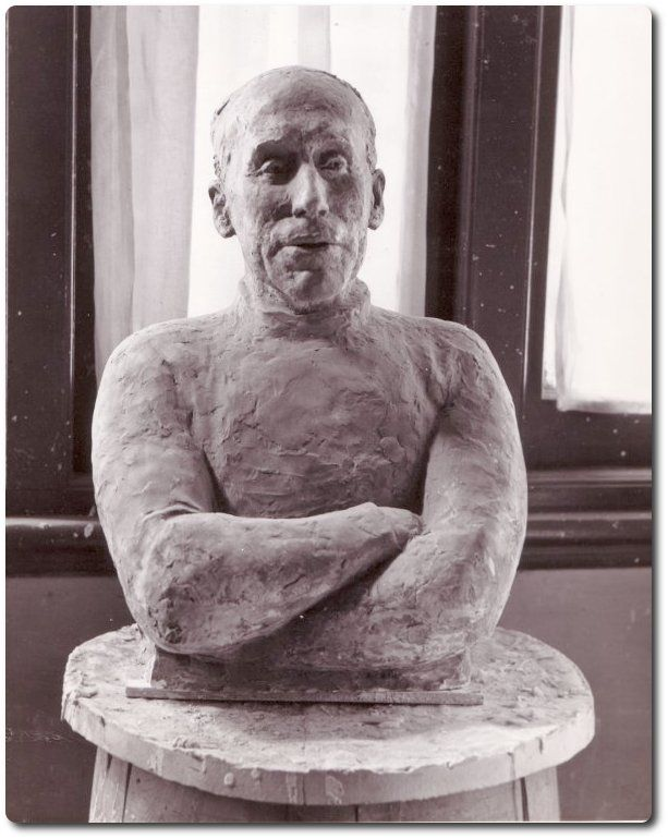 Daphne Mayo Collection -  Portrait bust of Mr Whetton, c1960s