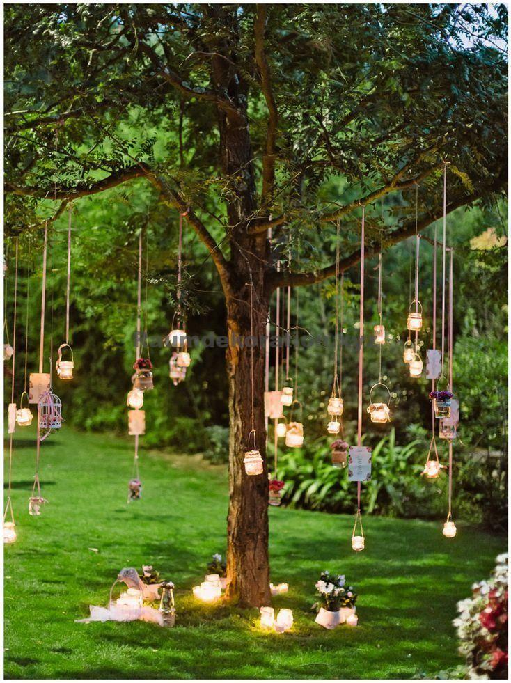 Tischdeko Hochzeit – Verträumte Gartenbeleuchtung Ideen