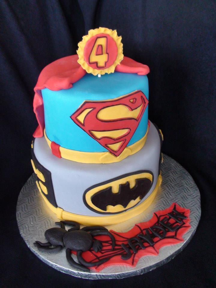 super hero cake gteau super hero creation maman gateau - Gateau Anniversaire Super Heros