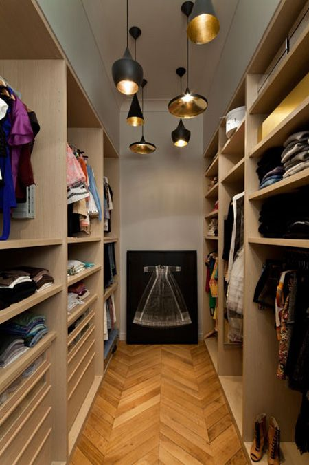 If this were 4-5 ft wider with a dressing station in the middle, this would be my dream closet.