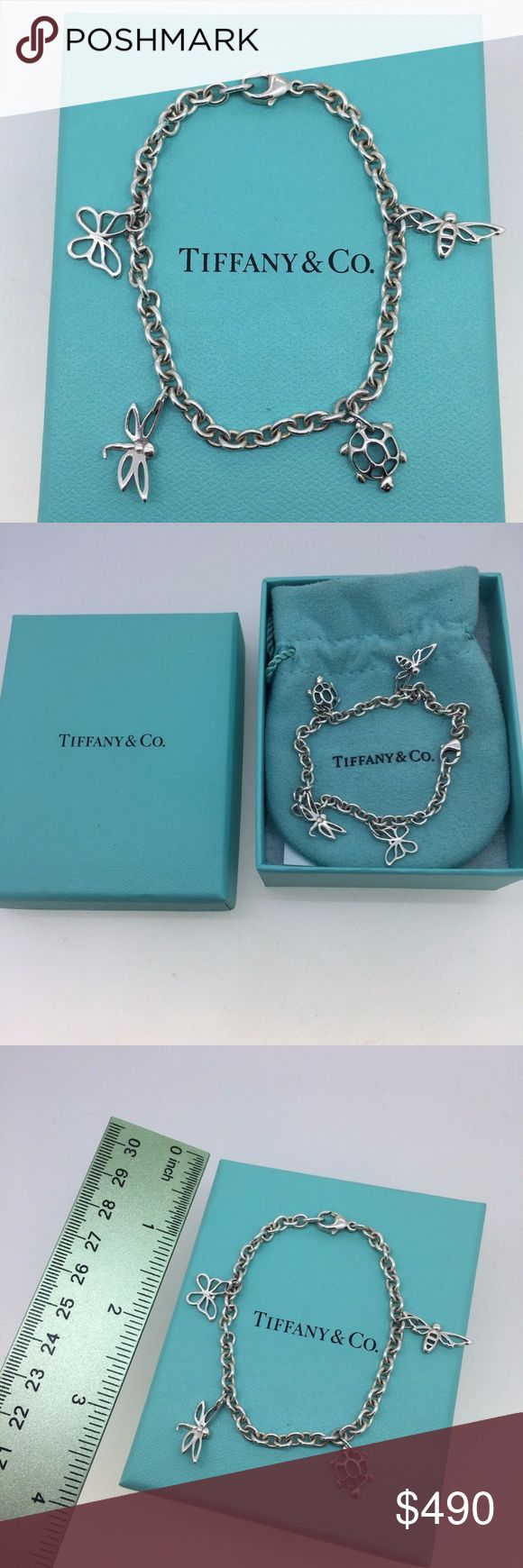Tiffany & Co Insect & Turtle Silver Charm Bracelet