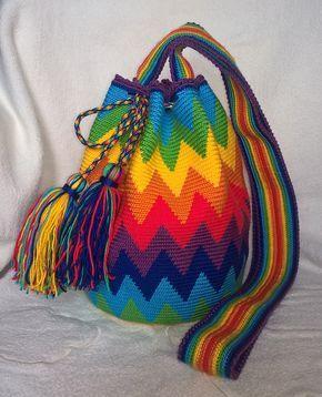 crochet bag colors diy handmade