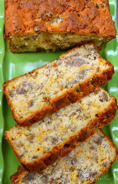 Sausage & Cheese Bread. Warm, cheesy and packed with savory flavor. It's just the thing to serve toasted for breakfast.