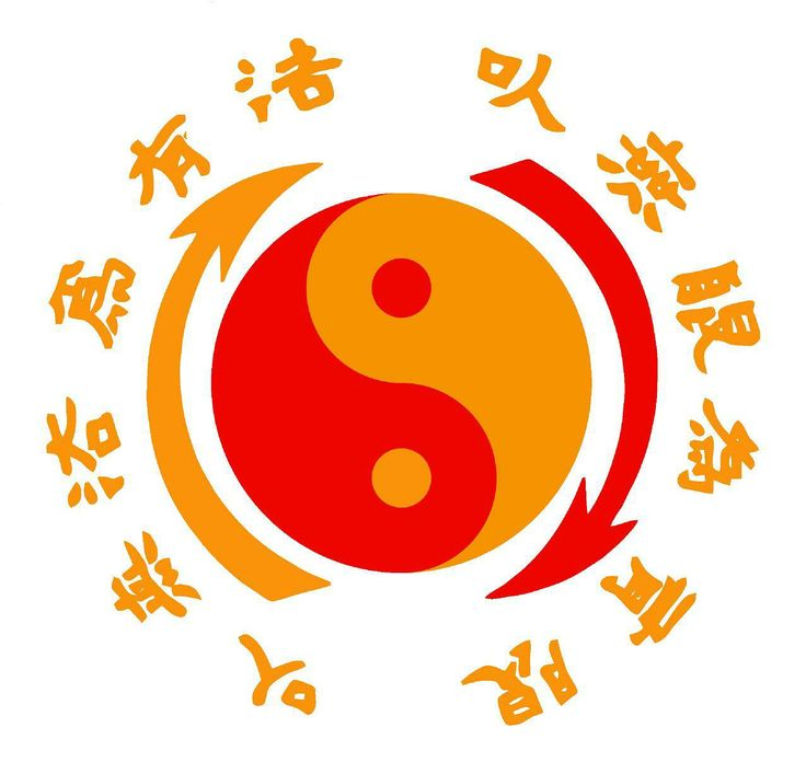 """(6.5) Bruce Lee's Jeet Kune Do logo. The characters translate to """"Using No Way as Way,"""" and """"Having No Limitation as Limitation."""""""