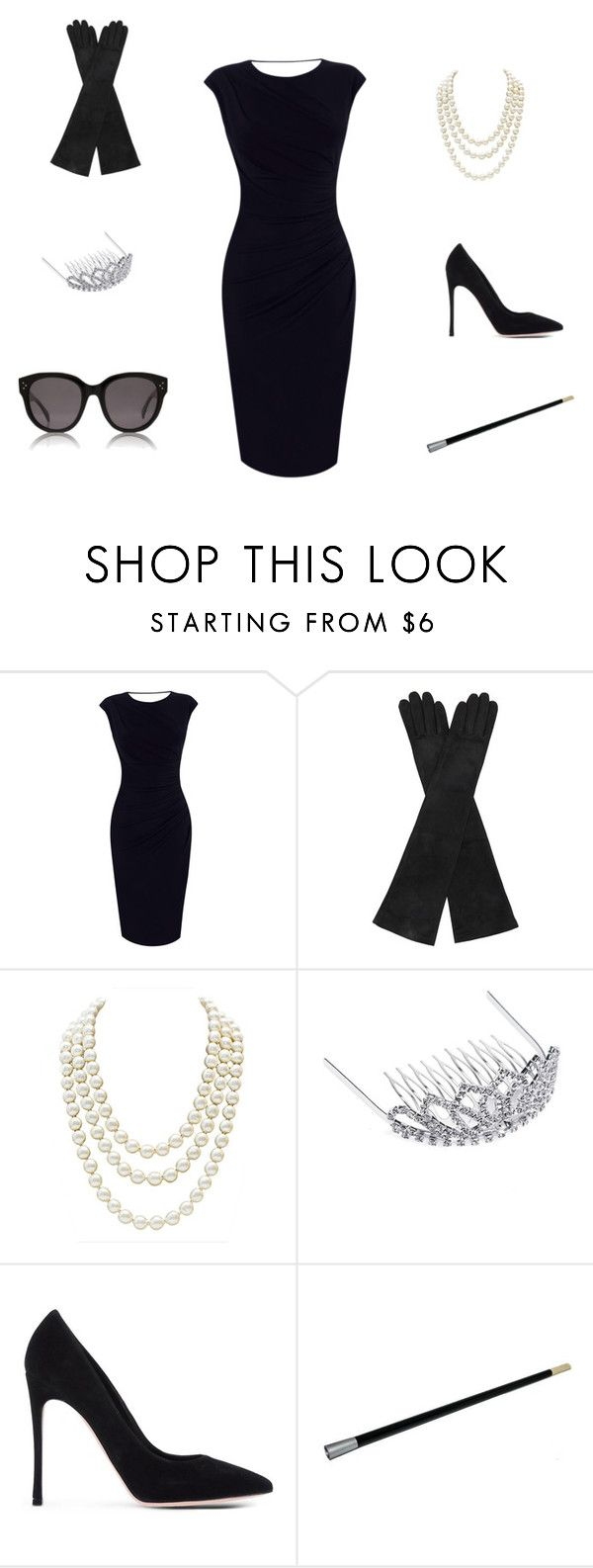 """Breakfast at Tiffanys Costume"" by guide2style on Polyvore featuring Oasis, AGNELLE, Chanel, BP., Gianvito Rossi and CÉLINE"