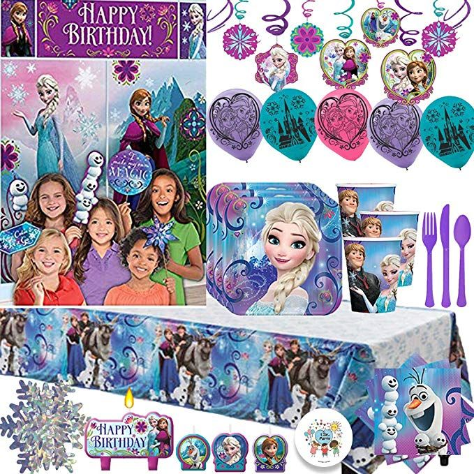 Frozen Mega Birthday Party Supply Pack For 16 Guests Plates Napkins Frozen Birthday Party Supplies Frozen Birthday Party Favors Frozen Birthday Party Invites