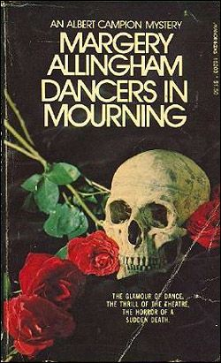 Dancers in Mourning by Margery Allingham, vintage British Golden Age detective fiction cover